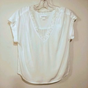 Beautiful white chamois top by Velvet